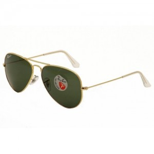 Kính Ray Ban RB3025 Gọng vàng mắt kính xanh polarized 55mm
