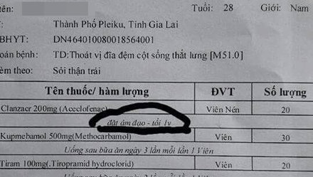 Nam bệnh nhân được yêu cầu… đặt thuốc vào âm đạo!