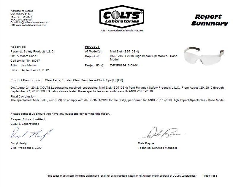 Kính Mini-Ztek đã được kiểm tra chất lượng tại Colts-Mỹ