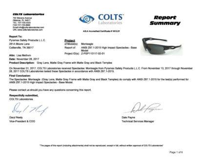 Kính Monteagle đã được kiểm tra chất lượng tại phòng lab Colts – Mỹ